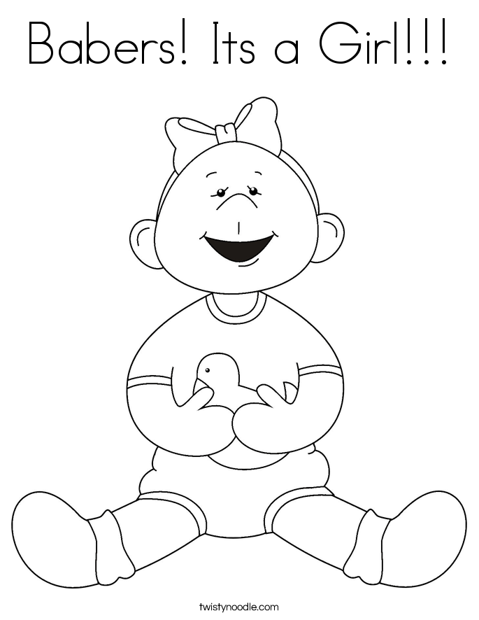 Babers! Its a Girl!!! Coloring Page