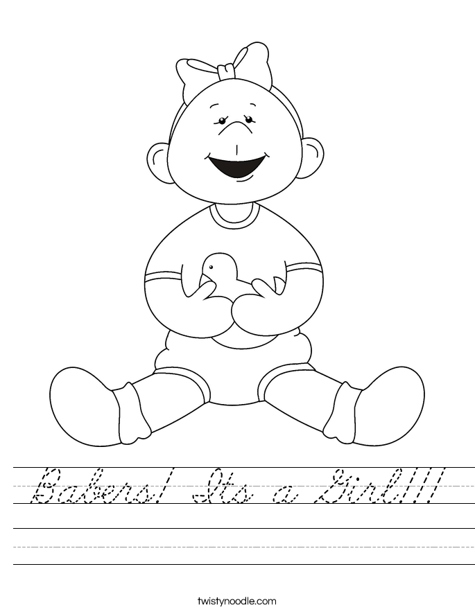 Babers! Its a Girl!!! Worksheet