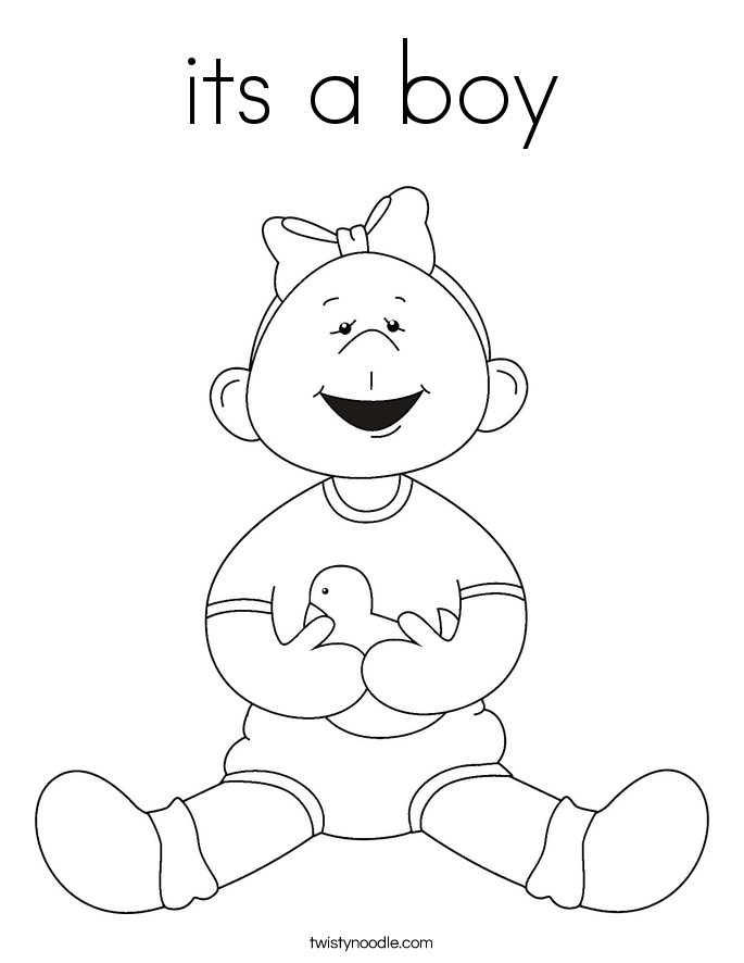 its a boy Coloring Page