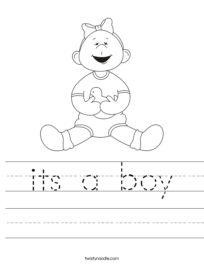 its a boy Worksheet