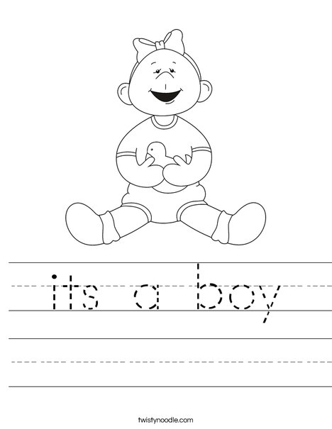 Girl with Ducky Worksheet