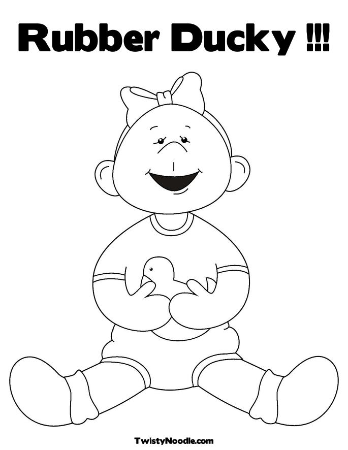 duckie coloring pages - photo#28
