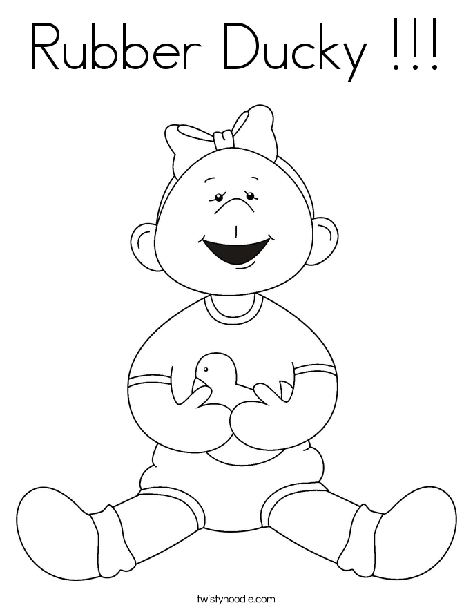 Rubber Ducky !!! Coloring Page
