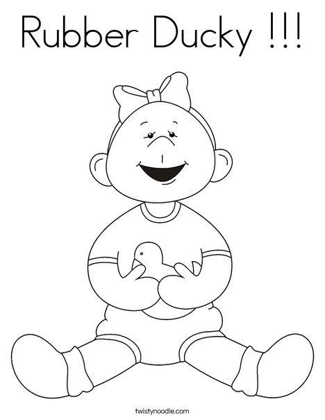 Rubber Ducky Coloring Page - Twisty Noodle