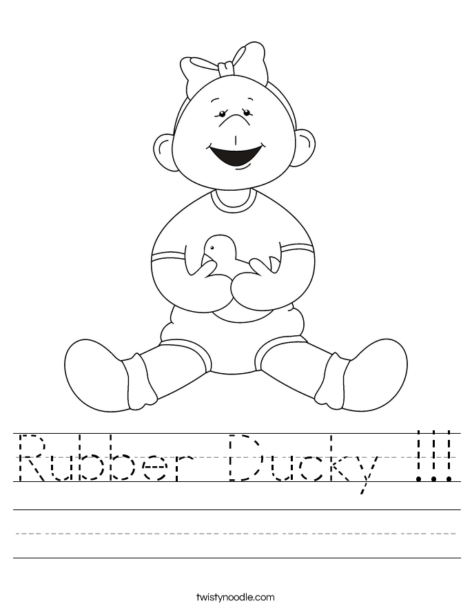 Rubber Ducky !!! Worksheet