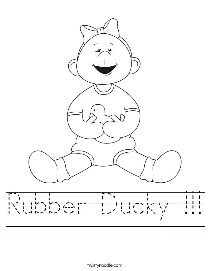 Rubber Ducky !!! Worksheet