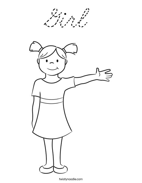 Girl Coloring Page
