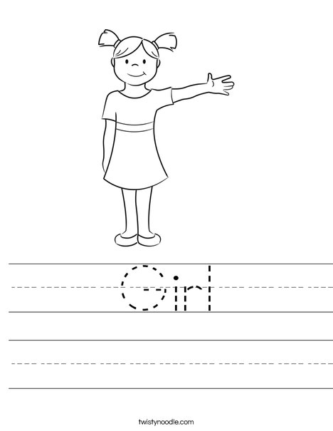 Girl Worksheet