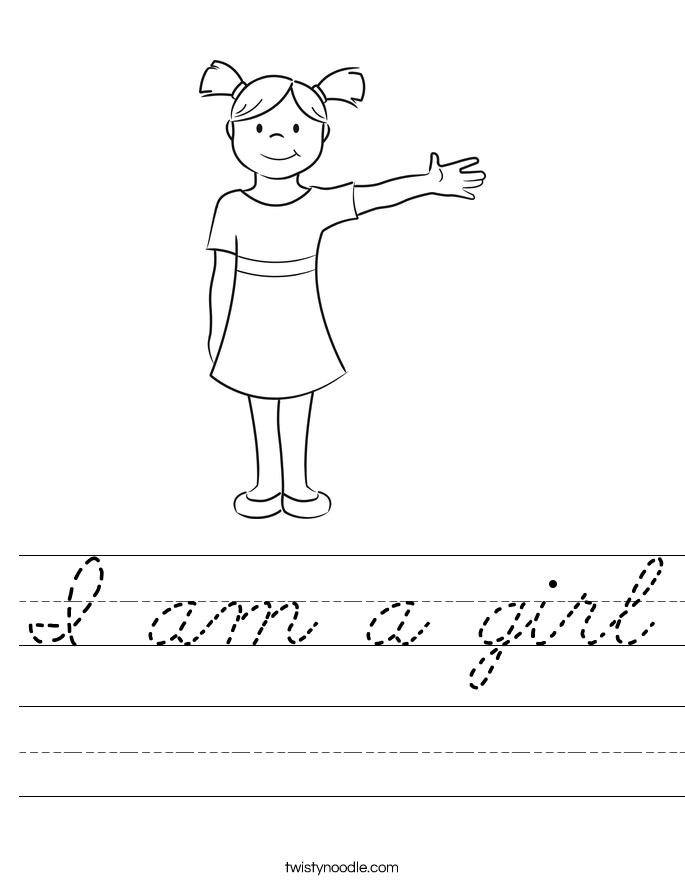 I am a girl Worksheet
