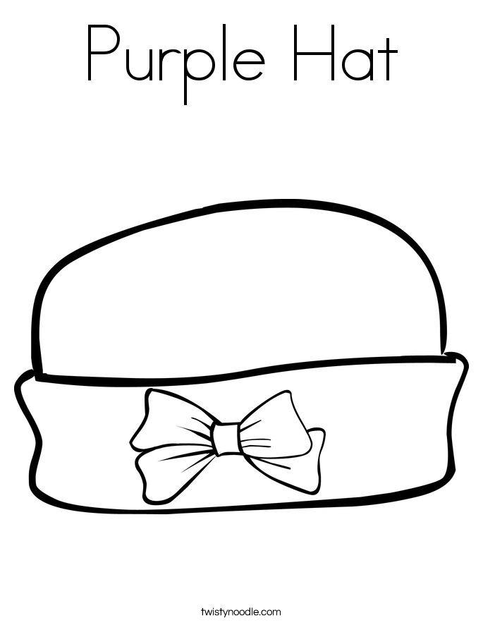 Purple Hat Coloring Page