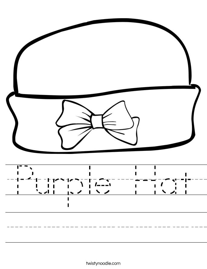 Purple Hat Worksheet