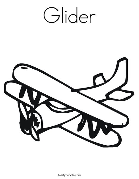 Glider Coloring Page