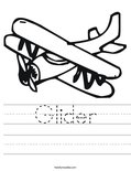 Glider Worksheet