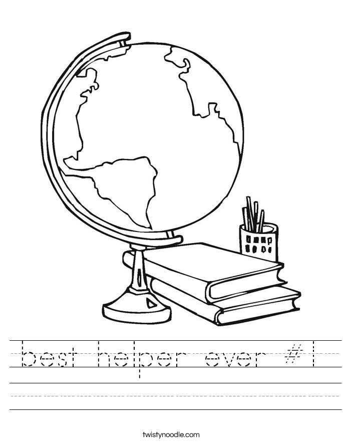 best helper ever #1 Worksheet