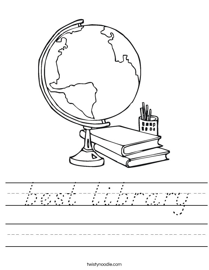 best library Worksheet