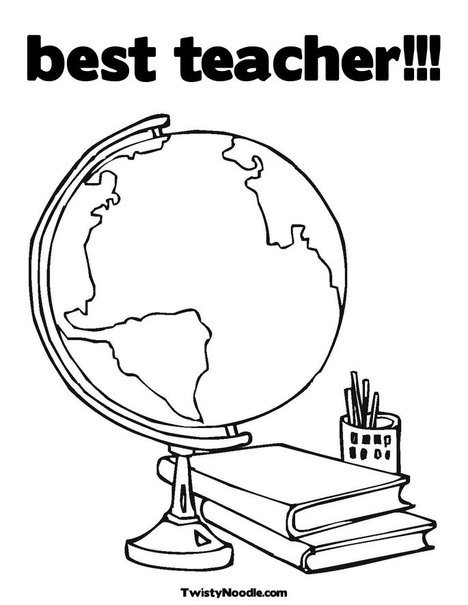 Best teacher coloring sheets coloring coloring pages for Best teacher coloring pages