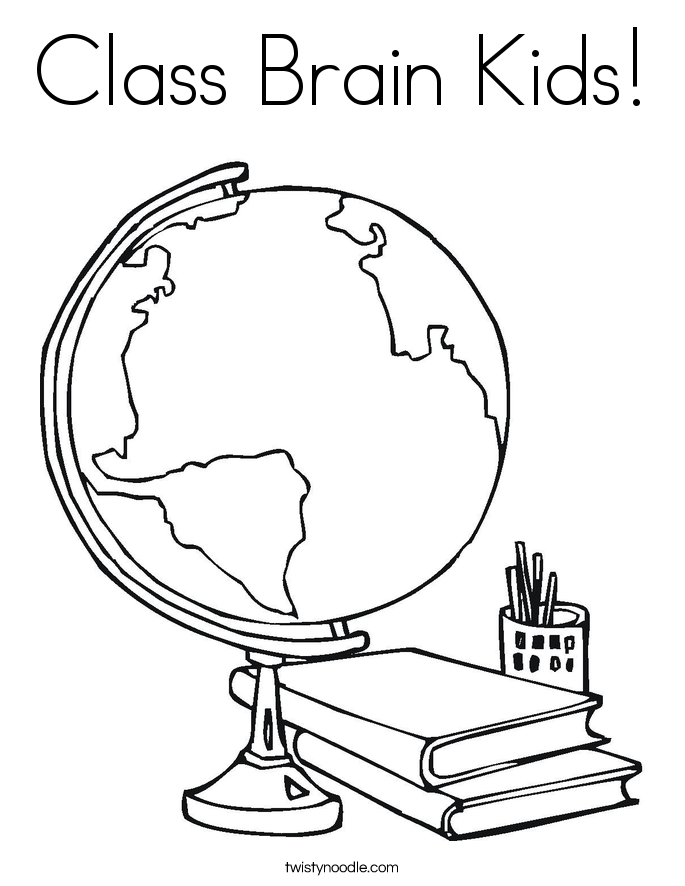 Class Brain Kids! Coloring Page