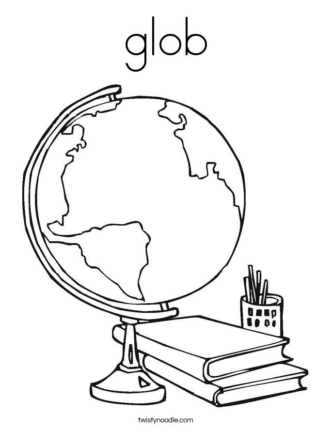 glob Coloring Page