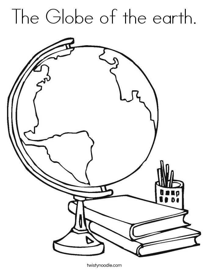 The Globe of the earth. Coloring Page