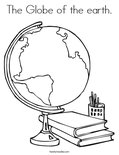 The Globe of the earth.Coloring Page