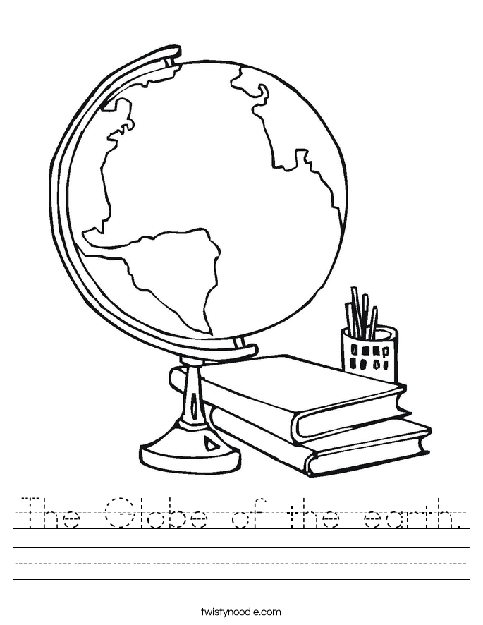 The Globe of the earth. Worksheet