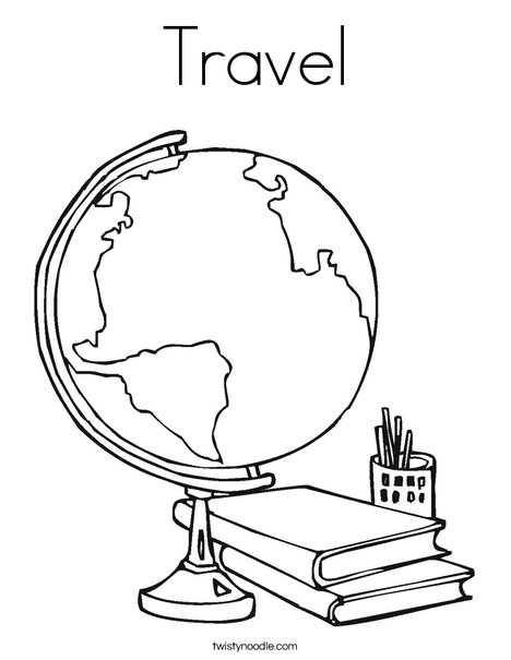 Travel Coloring Page - Twisty Noodle