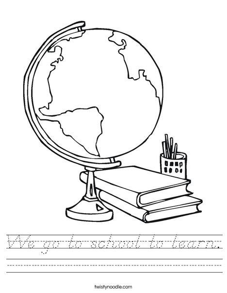 Globe Worksheet