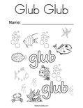 Glub Glub Coloring Page