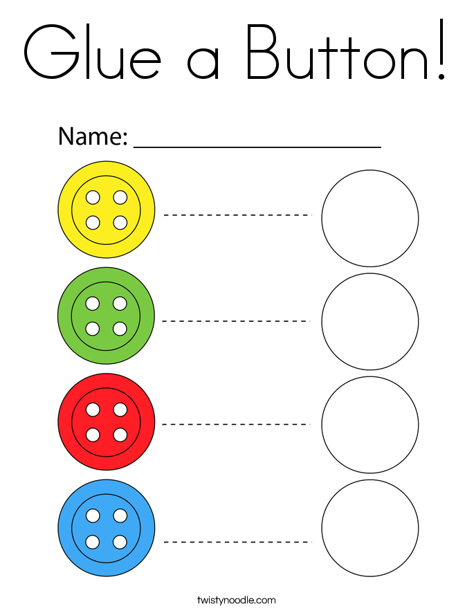 Glue a Button! Coloring Page