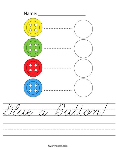 Glue a Button! Worksheet