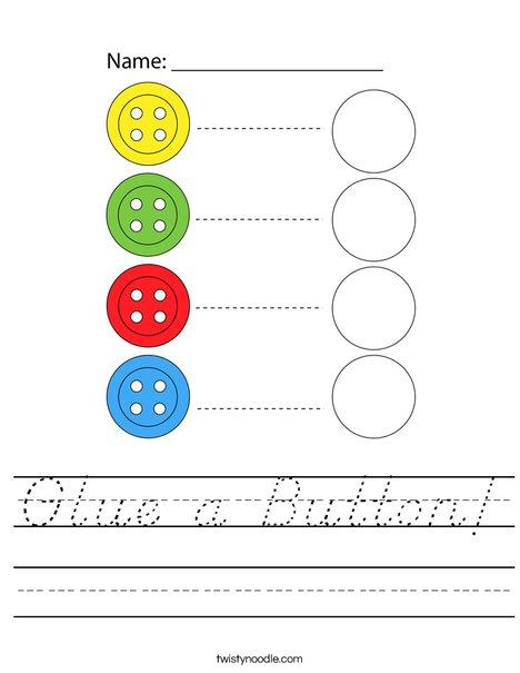 Glue a Button! Worksheet