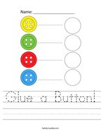 Glue a Button Handwriting Sheet