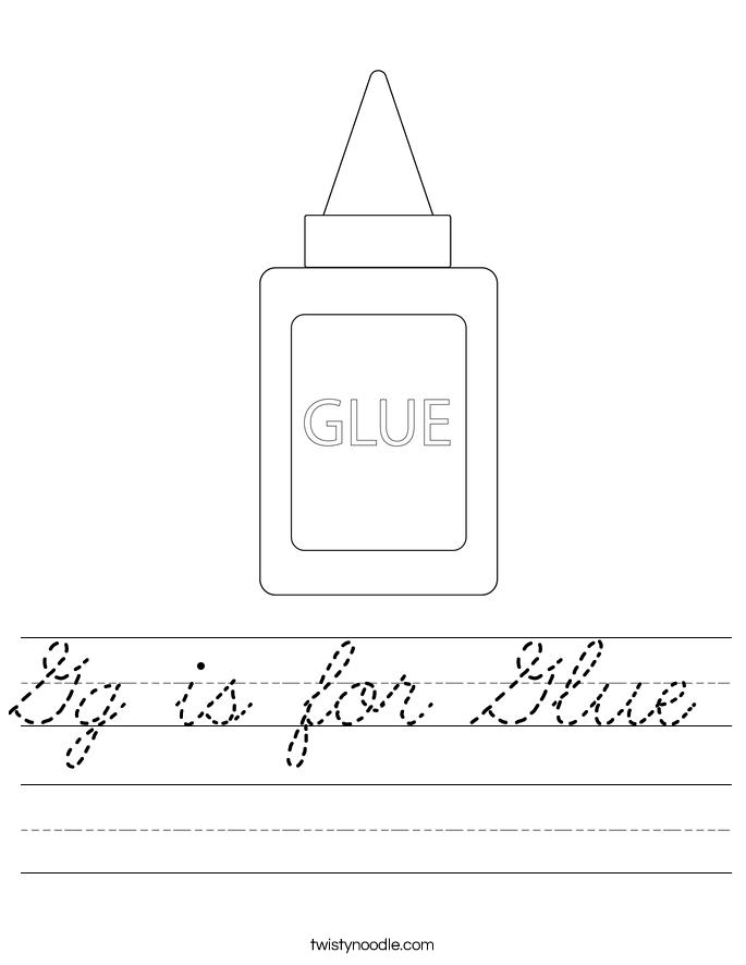 Gg is for Glue Worksheet