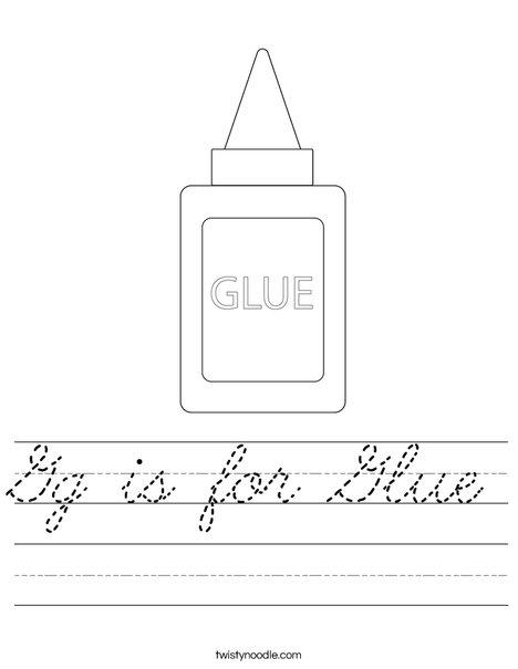 Glue Worksheet