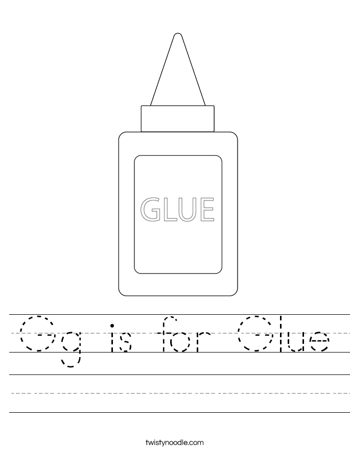 Gg is for Glue Worksheet