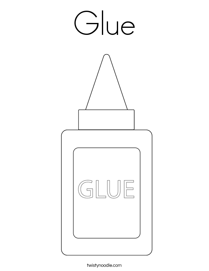 glue bottle coloring pages - photo#3