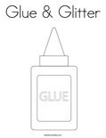 Glue & Glitter Coloring Page