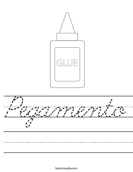 Glue Worksheet