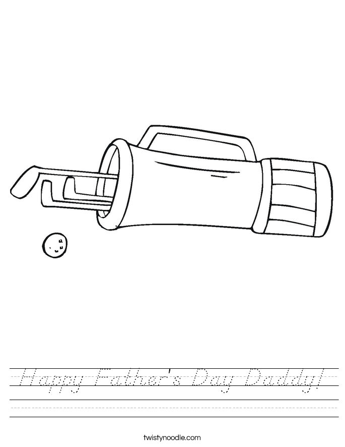 Happy Father's Day Daddy! Worksheet