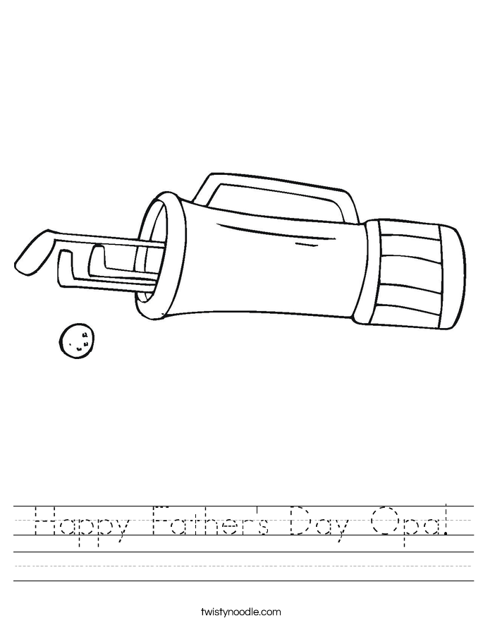 Happy Father's Day Opa! Worksheet