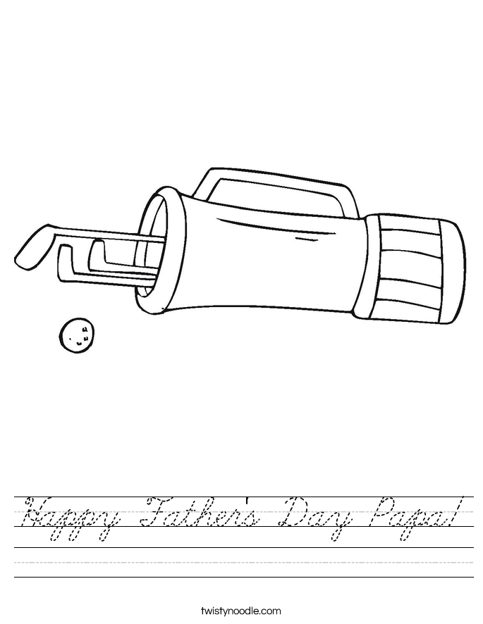 Happy Father's Day Papa! Worksheet