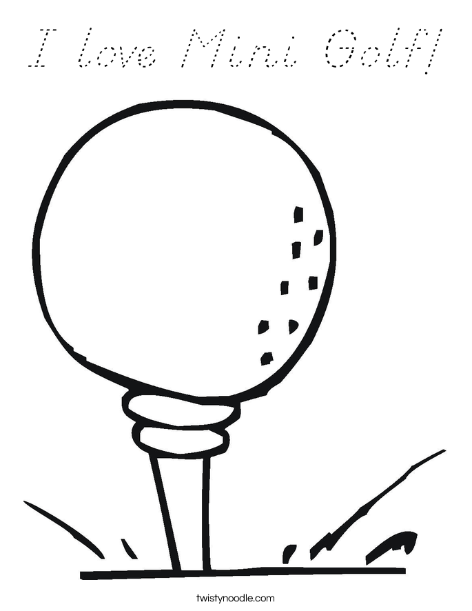 I love Mini Golf! Coloring Page