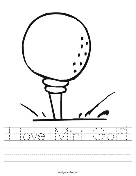 Golf ball on tee Worksheet