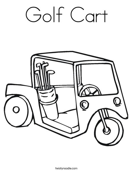 Golf Cart 2 Coloring Page