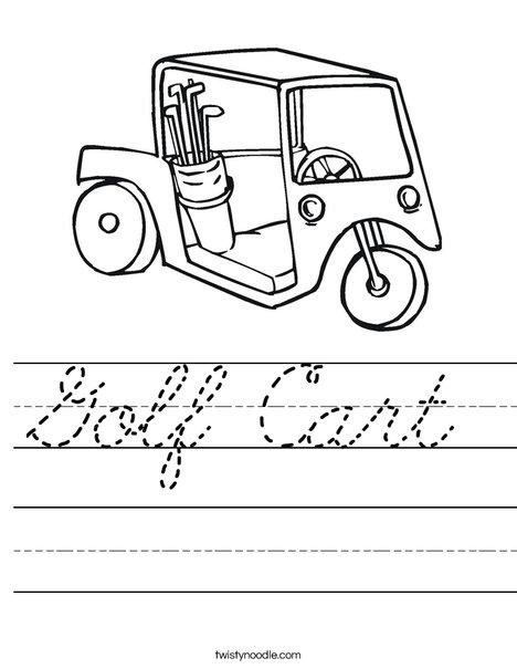 Golf Cart 2 Worksheet