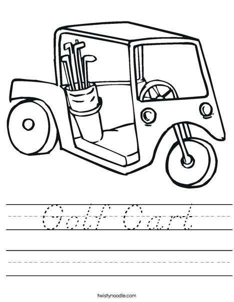 Golf Cart 2 Worksheet