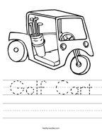 Golf Cart Handwriting Sheet