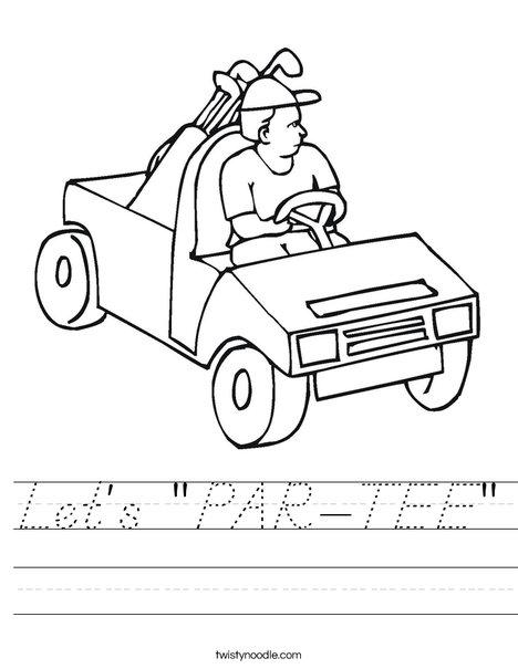 Golf Cart Worksheet
