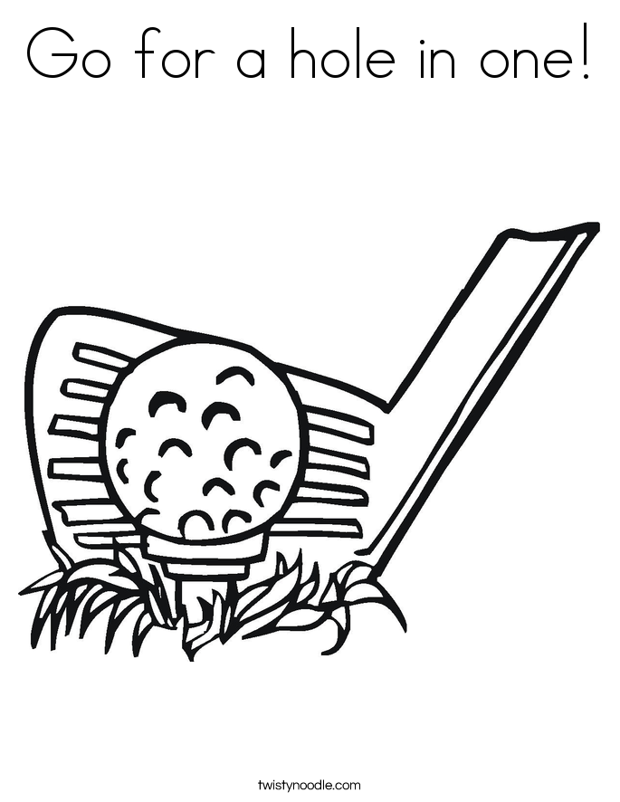 Go for a hole in one! Coloring Page