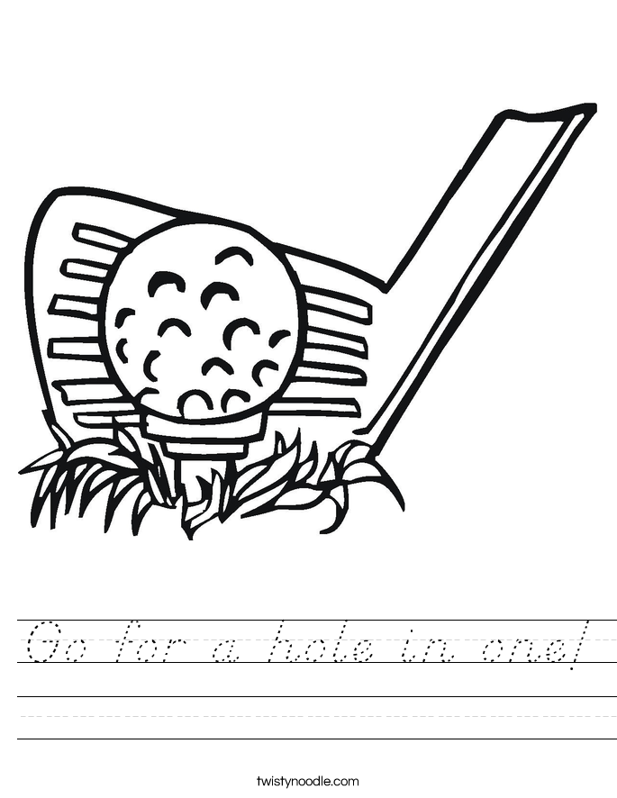 Go for a hole in one! Worksheet